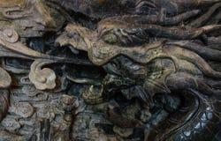 Drakejadeskulptur Arkivfoto