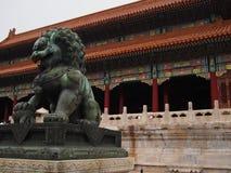 Drakelag på Forbidden City Arkivfoto