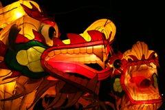 Drakelyktor exponerar natten Royaltyfria Bilder