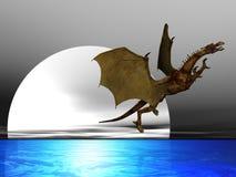 drakemoon vektor illustrationer
