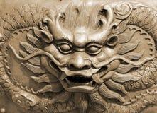 Draken in de tempel Royalty-vrije Stock Afbeelding