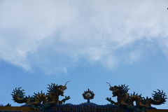 Draken och himlen Royaltyfri Foto