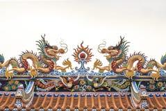 Draken på vit bakgrund Royaltyfri Bild
