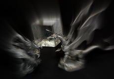 Drakenaanval royalty-vrije stock afbeelding