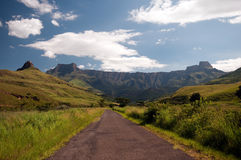 Drakensberg Amphitheater. Famous landscape of South Africa Royalty Free Stock Photos