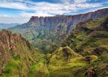 Drakensberg Amphitheatre w Południowa Afryka zdjęcia royalty free