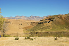 Drakensberg Dragon mountains landscape Stock Photo