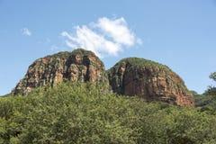 Drakensberg en Suráfrica cerca del hoedspruit Foto de archivo libre de regalías