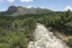 Drakensberg i Sydafrika nära hoedspruit Royaltyfri Fotografi