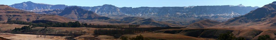 Drakensberg kąta Szeroki widok Od Castleburn Obraz Stock