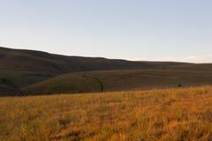 Drakensberg kullar - ljus och skugga Arkivbild