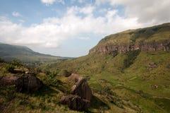 Drakensberg mountains. Landscape at Giants castle in the Drakensberg mountains Royalty Free Stock Images
