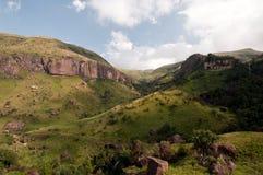 Drakensberg mountains. Landscape at Giants castle in the Drakensberg mountains Stock Images