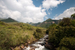 Drakensberg mountains. Landscape at Giants castle in the Drakensberg mountains Stock Photo
