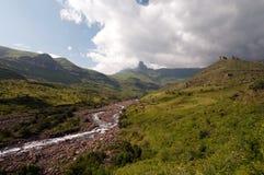 Drakensberg mountains. Landscape at Giants castle in the Drakensberg mountains Royalty Free Stock Photos