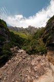 Drakensberg mountains. Landscape at Amphitheater in the Drakensberg mountains Royalty Free Stock Images