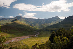 Drakensberg mountains. Landscape at Amphitheater in the Drakensberg mountains Stock Images
