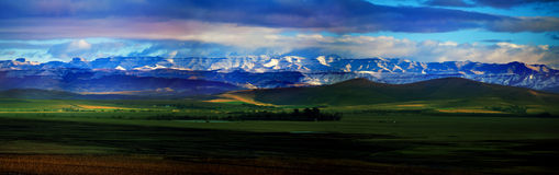 Drakensberg mountains; South-Africa, Maluti. The Maluti Drakensbeg mountains after snowfall, in South - Africa Stock Image
