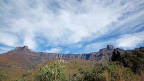 Drakensberg mountains time lapse stock video footage