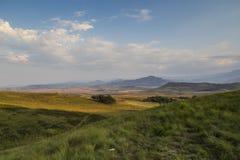 Drakensberg, Południowa Afryka, widok na górze podczas dnia Fotografia Stock