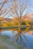Drakensberg septentrional Reflexión de montañas en agua apacible Fotografía de archivo libre de regalías
