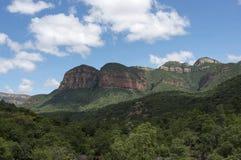 Drakensberg in Sudafrica vicino a hoedspruit fotografie stock