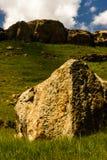 Drakensburg山的山麓小丘 免版税库存照片