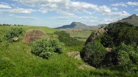 Drakensburg sikt royaltyfria bilder