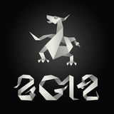 drakeorigamiår 2012 Arkivfoto