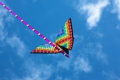 Drakes färger i den blåa himlen Arkivbilder