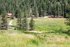 Drakesbad-Gast-Ranch, Warner Valley lizenzfreie stockfotos