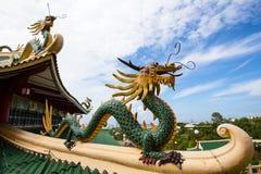 Drakeskulptur av Taoisttemplet i Filippinerna Royaltyfri Bild
