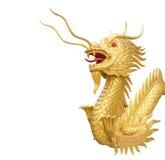 Drakestaty för kinesisk stil med den snabba banan Arkivfoto