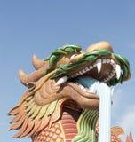 Drakestaty i Suphanburi, Thailand Royaltyfria Bilder