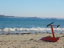 Drakesurfingbräda på stranden 2 royaltyfria bilder
