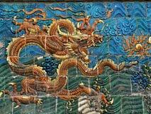 Drakesymbol av den kinesiska välden Arkivbild