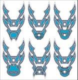 Drakesymboler i stam- stilsymbol Royaltyfri Fotografi