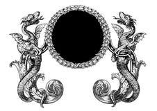 drakevektor vektor illustrationer