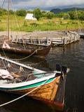 Drakkars de Vikingo Imagenes de archivo