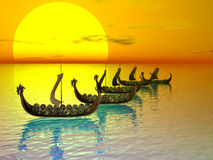 drakkerflotta Arkivfoton