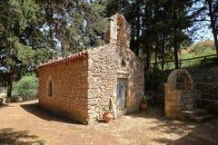 DRAKONA, CRETE: The church of Aghios Stefanos Stock Photos
