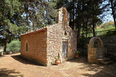 DRAKONA, CRETE: The church of Aghios Stefanos. The church of Aghios Stefanos Stock Photos