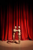 Drama. Wooden mannequin performing a drama Royalty Free Stock Photo
