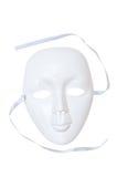 Drama blanco de la máscara imágenes de archivo libres de regalías