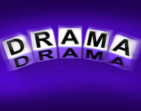Drama Blocks Displays Dramatic Theater or Emotional Feelings Royalty Free Stock Photography