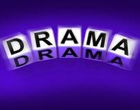Drama Blocks Displays Dramatic Theater or Emotional Feelings. Drama Blocks Displaying Dramatic Theater or Emotional Feelings Royalty Free Stock Photography