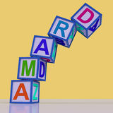 Drama Blocks Show Acting Play Or Theatre Stock Image