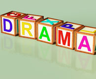 Drama Blocks Show Roleplay Theatre Or Production Royalty Free Stock Images