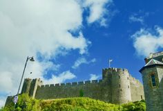 Drama of the castle Royalty Free Stock Photo