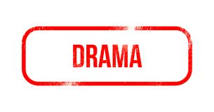 Drama - caucho rojo del grunge, sello ilustración del vector